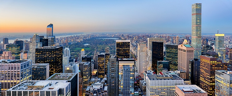 Manhattan aerial photograph